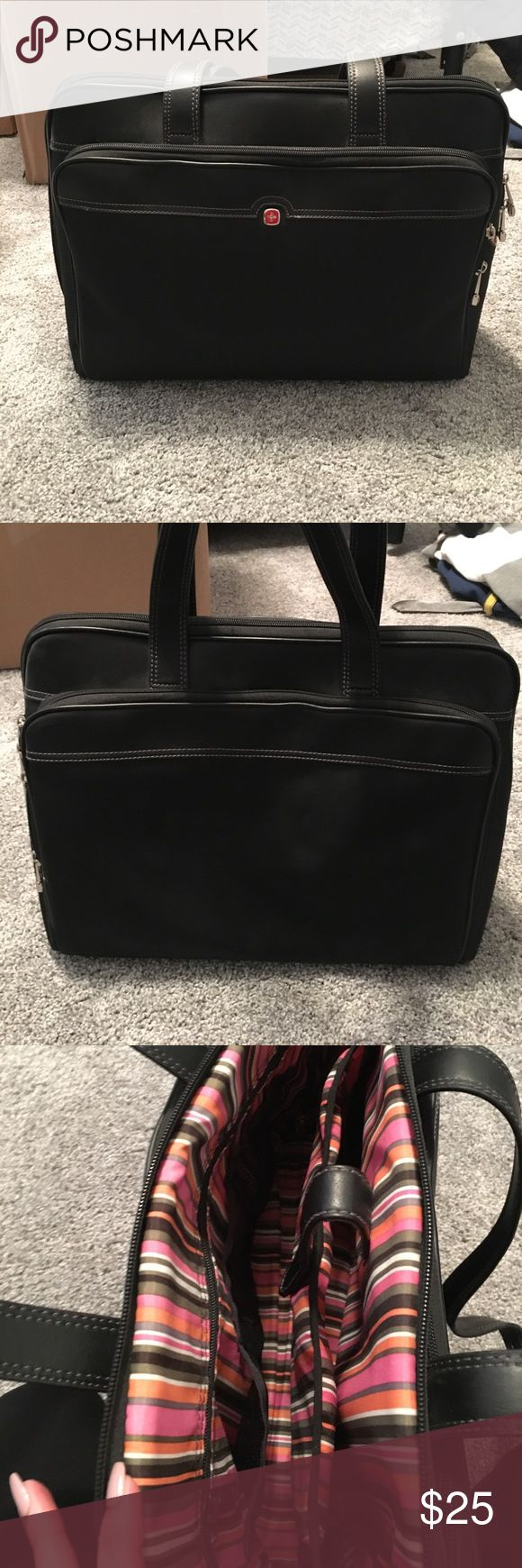 Swiss Army Laptop Bag Sturdy AND stylish laptop bag with two side pockets and lots of room. Bags Laptop Bags