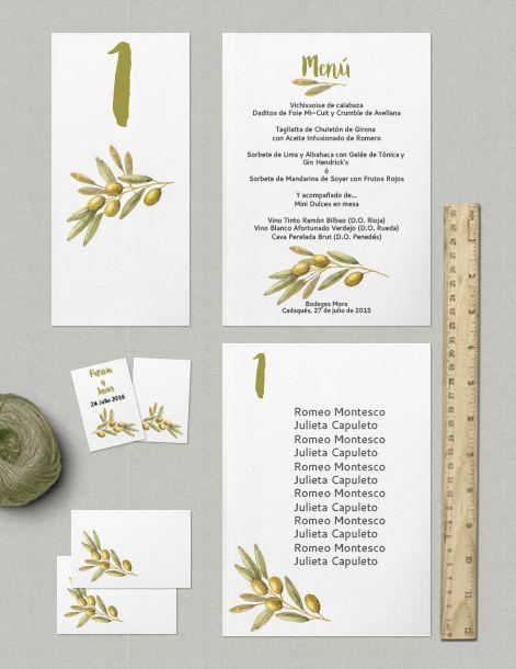 Colección de imprimibles Olivo para boda | arte para niños | Pinterest