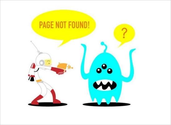 404 aliens creative error page