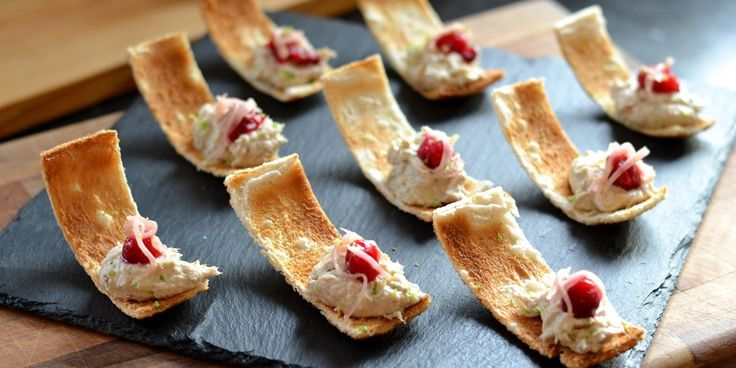 Danny Kingston serves up these pretty smoked mackerel canapés just in time for Christmas. These bites are all about balancing the rich smoke...