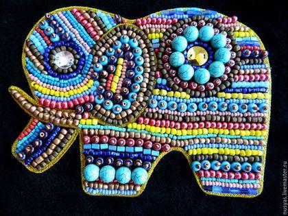 """Женские сумки ручной работы. Сумка """"Тайский слон"""". Суханова Анна SukhAnna. Ярмарка Мастеров. Вышитый слон, клатч кожаный"""