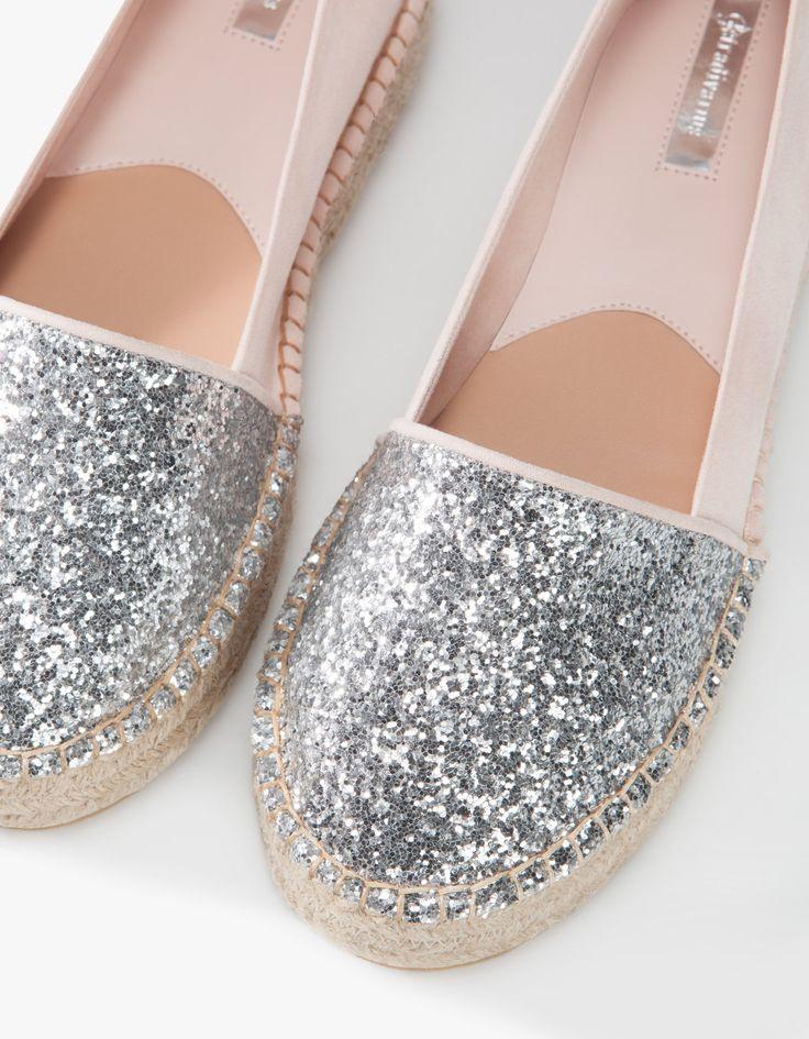 Glitter espadrilles - PLATTE SCHOENEN - DAMES