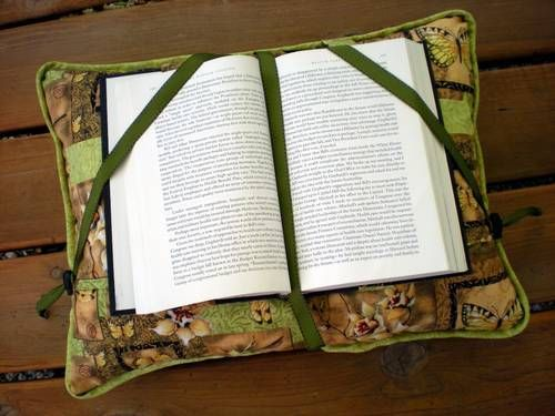 UPcycle a Pillow into a *Great GIFT* of a reading pillow!:-) {Add Ribbon or Elastic to an existing formed pillow & it would be Done for Gift giving in no time!:-}