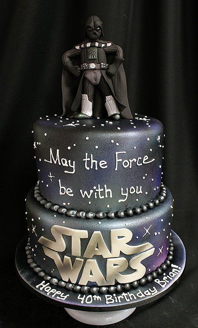 Star Wars cake - Darth Vader - For all your cake decorating supplies, please visit craftcompany.co.uk