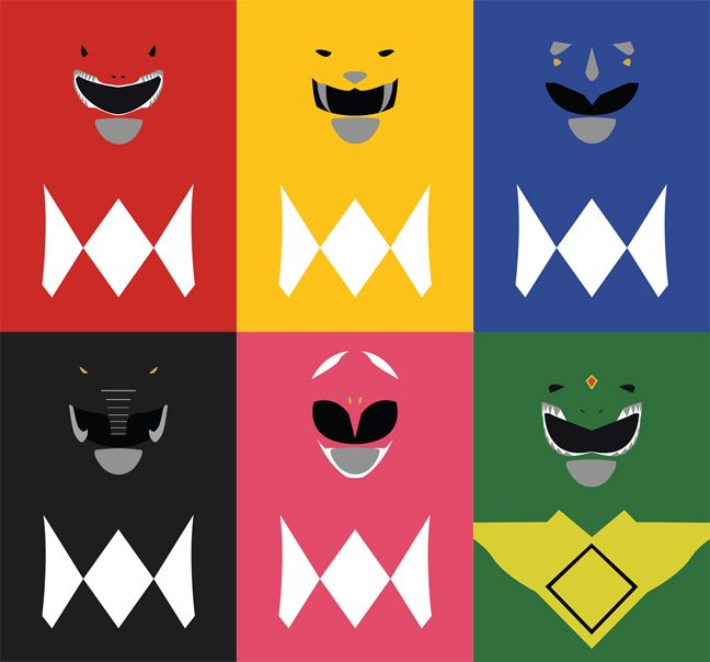 Mighty Morphin Power Ranger minimalist poster