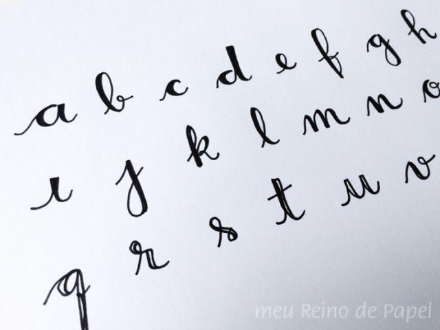 faux calligraphy pen step by step como fazer calligrafia moderna