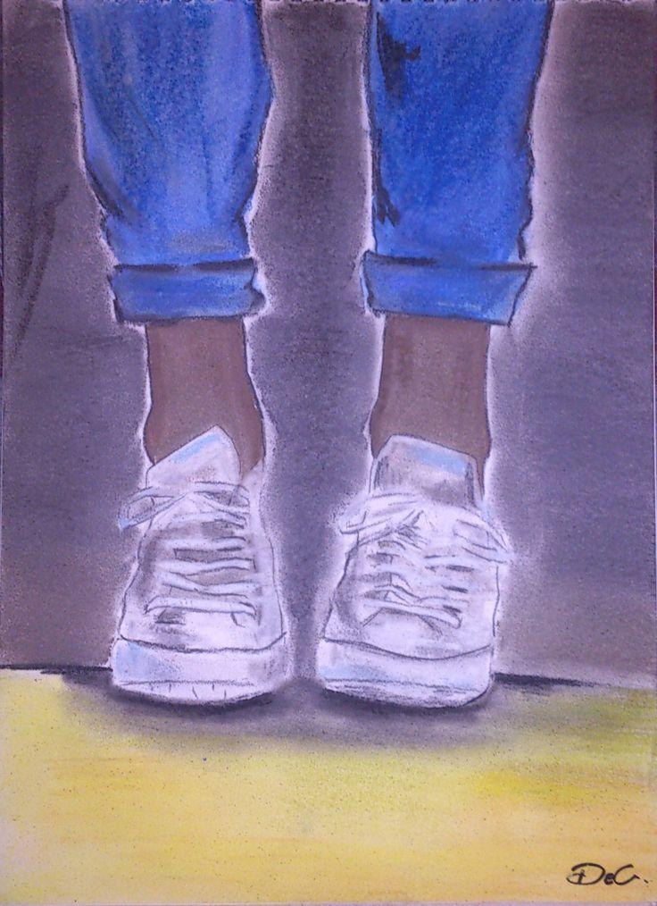 -Shoes -Soft pastel and colour pencils on canson paper -Measures: 35x25 cm  https://www.etsy.com/listing/215559705/shoes-pastel-drawing-on-canson-paper-all