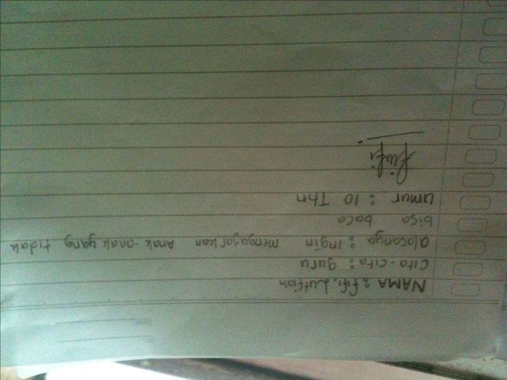 #FutureFactory: Hand Writing by Fifi Lutfiah