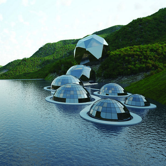 Very cool structures !! Like little glass Igloos !! --- MenTouGou Ecovalley