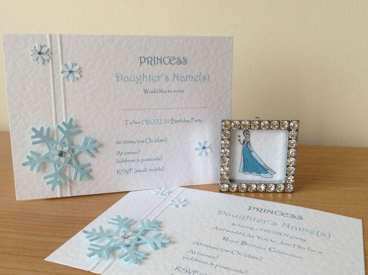 10 Handmade Frozen Snowflakes Birthday Invitations Wedding Christening Christmas