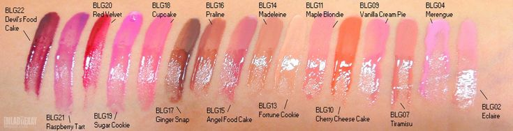 NYX BUTTER GLOSS ♥ 16 Shades Swatches http://kayxcake.blogspot.com.br/2015/04/nyx-butter-gloss-16-shades-swatches.html