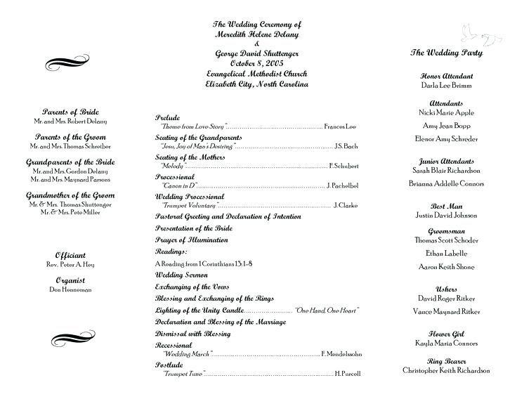 Image Result For Baptist Wedding Programs Wedding Ceremony Programs Wedding Programs Template Printable Wedding Programs