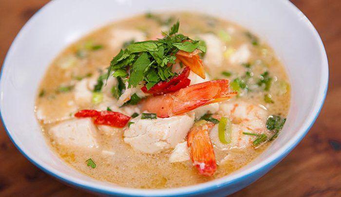 Healthy Prawn and Tofu Laksa - Good Chef Bad Chef
