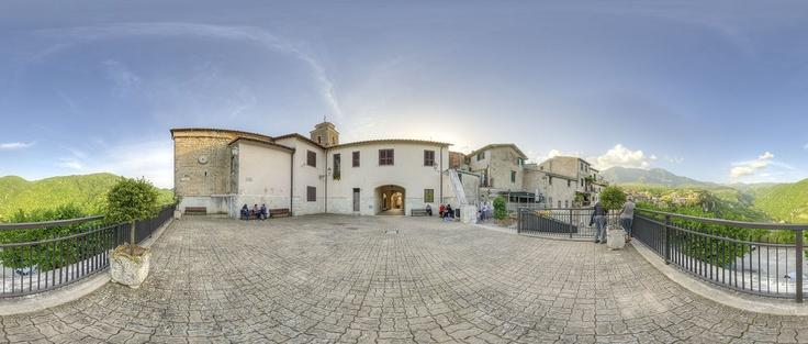 Piazza della Libertà, Collepardo, Lazio, Italy