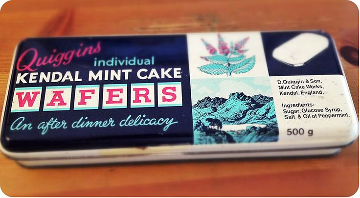 Minty - old packaging tin for Kendal Mint Cake