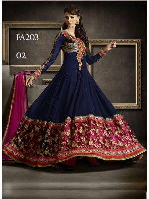 Superb Latest #Designer Bridal #Anarkali #Suits Online Shopping at   The Lowest Prices ........Order Now!   https://www.crazora.com/anarkali-suits.html