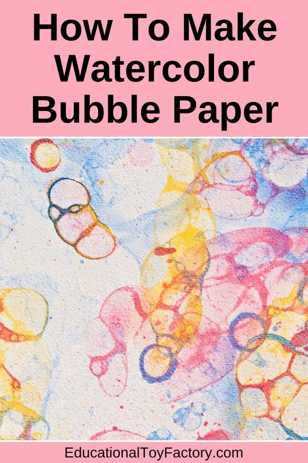 How To Make Bubble Paper A Fun Art Activity Bubble Paper How