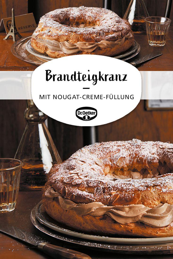 Paris-Brest: brandy wreath with nougat cream filling