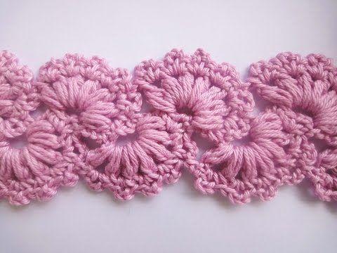 Lace Crochet Free Pattern Tutorial 9 Part 2 of 2 Crochet Lace Tape - YouTube