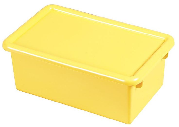 ECR4Kids ELR-0102-YE Stack & Store Tub with Lid - Yellow - Set of 12