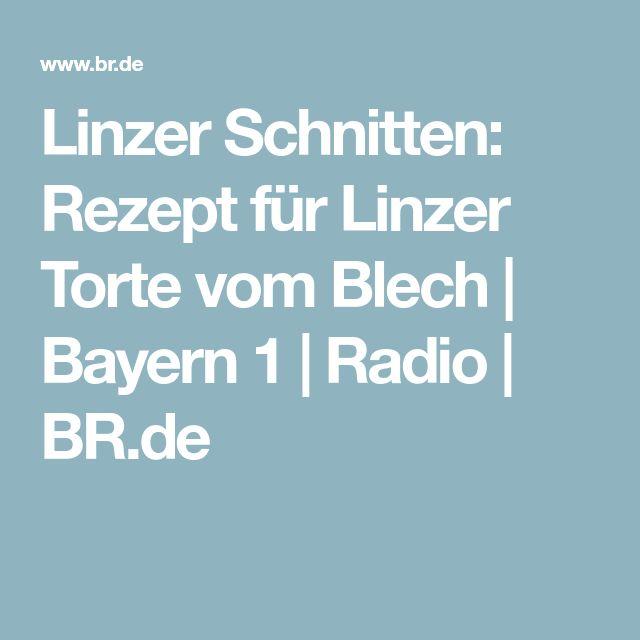 Linzer Schnitten: Rezept für Linzer Torte vom Blech   Bayern 1   Radio   BR.de