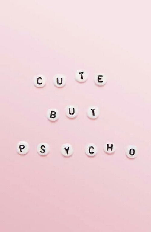 Image Via We Heart It Funny Happy Pink Psyco Wallpaper