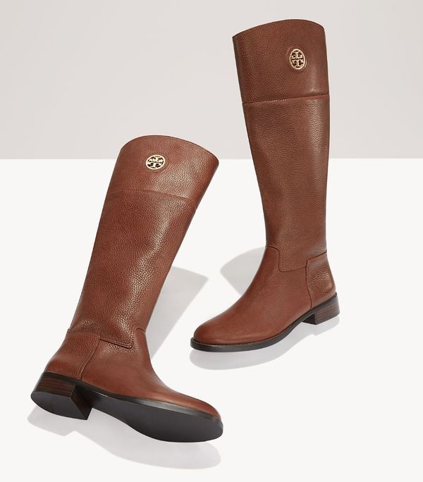 Love these Tory Burch riding boots - off with code: MERRY