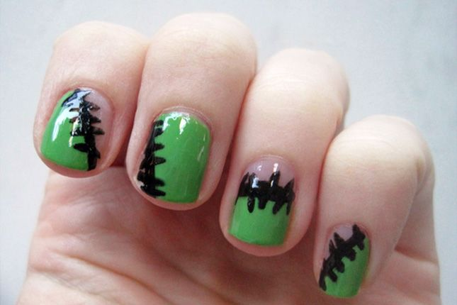 13 Gorgeous and Ghastly Halloween Nail Art Designs via Brit + Co.