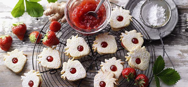 SweetFamily von Nordzucker: Rezept für Erdbeer-Ingwer-Kekse