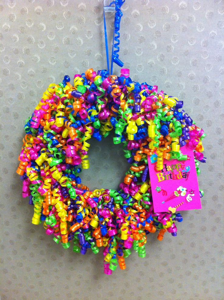 My boss loved the happy birthday wreath i hung outside for 50th birthday decoration ideas for office