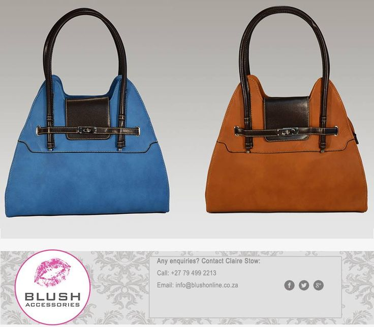 This beautiful handbag is perfect for any lady with a sense of style and class. Available in either blue or brown at your nearest #Blush store. #fashionista #handbags #accessories