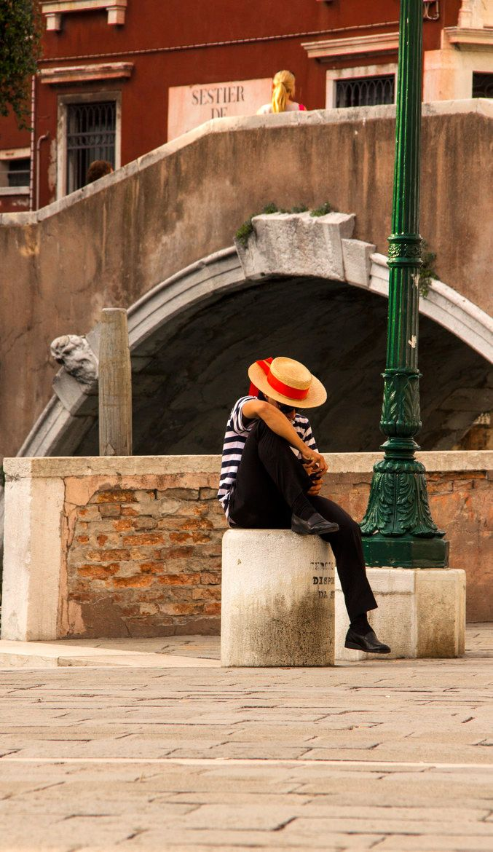 Gondoliere in Venice, Italy