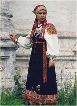 Folk costume of Tver Oblast, Russia