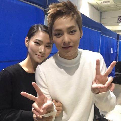 151227 Xiumin's sister(?) or his cousin(?).