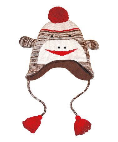 Take a look at this Brown Sock Monkey Earflap Hat - Women by MUK LUKS on #zulily today!