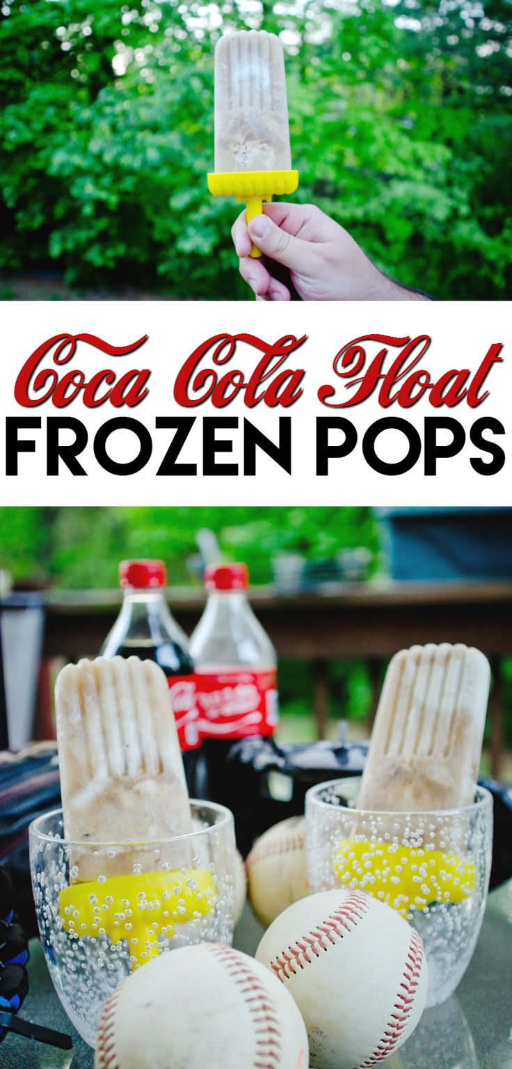 Take a Summer classic and turn it into a frozen pop: Coca-Cola Float Frozen Pops!