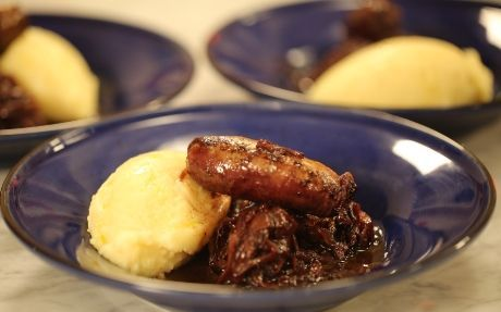Toulouse Sausage and Roasted Garlic Mash Recipe by Andy Bates