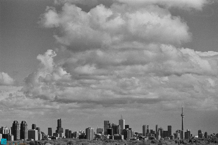 "Toronto Cityscape - Nikon F100 + 50mm + Red Filter, Ilford HP5 Plus 400, ISO 320  Feel free to visit and follow me on  * <a href=""http://torontointeriors.photography/"">torontointeriors.photography</a> * <a href=""https://www.facebook.com/PavelVoronenkoPhotography"">Facebook</a> * <a href=""https://www.facebook.com/torontointeriorsphotography"">T.I.F. on Facebook</a> * <a href=""https://instagram.com/torontointeriors.photography/"">Instagram</a> * <a href=""https://www.pinterest.com/PavelVoronenko"
