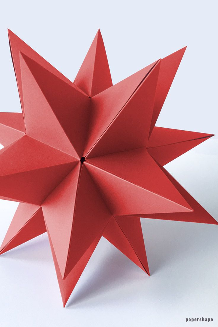 Diy 3d Paper Star For Christmas With Template Papershape Paper Flowers Diy Paper Crafts Diy 3d Paper Star