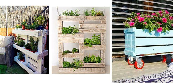 M s de 25 ideas incre bles sobre jardineras con palets en - Decorar paredes con palets ...