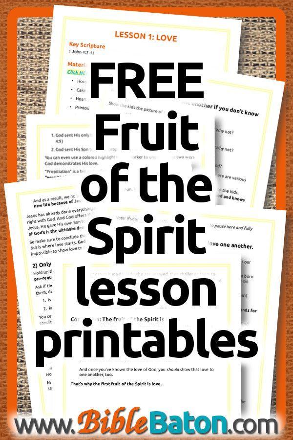 Free Fruit of the Spirit Lesson Plans for Kids   Teaching Kids