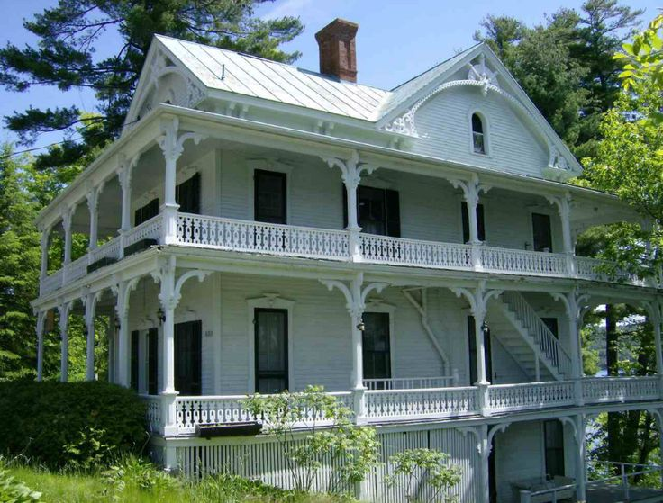Schroon Lake Landmark With Three Levels Of Porches Overlooking And The Town Park Former Hotel Annex Has No Common Areas Internal