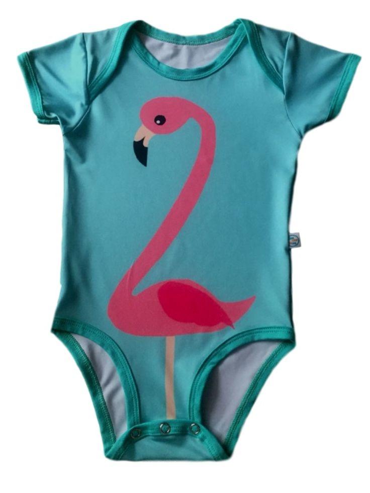 Body Googoodada Flamingo Com Protecao Uv 50 Verde Verde