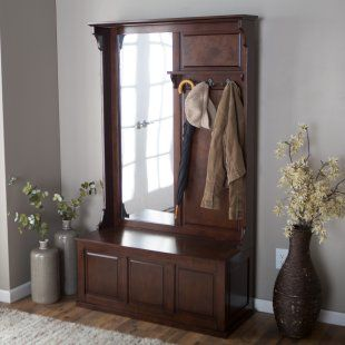Elegant Hall Tree Bench with Coat Rack