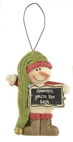 Family Snowman Christmas Ornaments (Dad, Grandma, Grandpa, Nana) (Grandpa)
