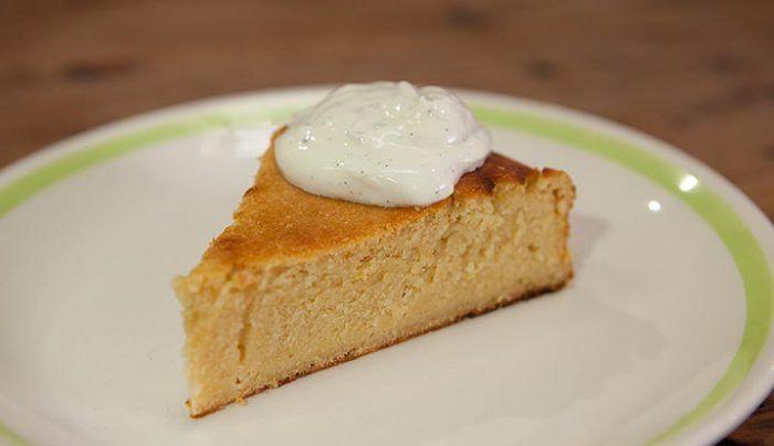 Honey, Extra Virgin Olive Oil and Lemon Cake with Vanilla Yoghurt