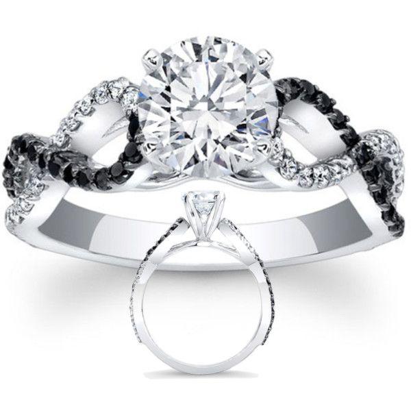 black white diamond engagement ring infinity diamonds band so want this but princess - Black And White Diamond Wedding Rings