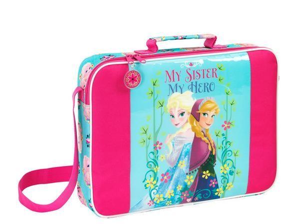 KRAINA LODU - Piękna torba na laptopa / notebooka dla każdej małej miłośniczki bajki Kraina Lodu.