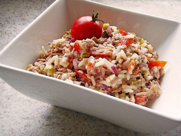 Thunfisch - Reis - Salat, ein raffiniertes Rezept aus der Kategorie Gemüse. Bewertungen: 80. Durchschnitt: Ø 4,4.