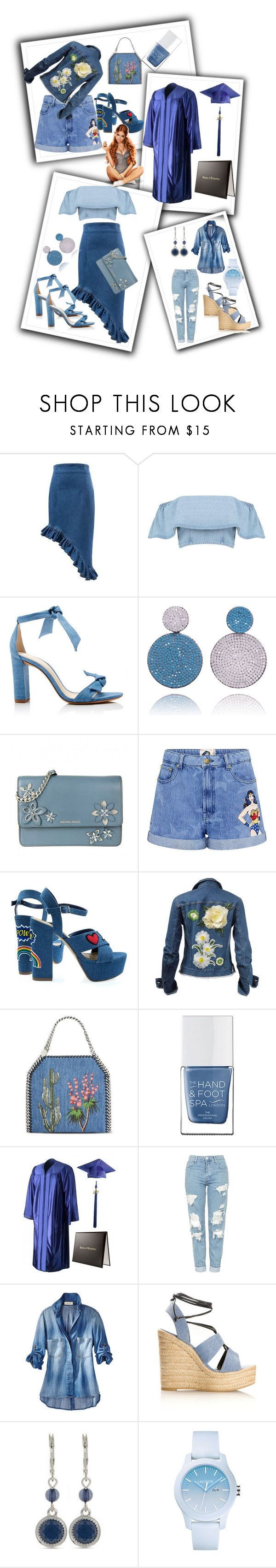 """Untitled #328"" by ljiljanabanovic ❤ liked on Polyvore featuring Alexandre Birman, MICHAEL Michael Kors, Paul & Joe Sister, STELLA McCARTNEY, The Hand & Foot Spa, Topshop, Yves Saint Laurent, Nine West and Lacoste"